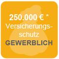 Versicherungsschutz bis zu 250.000€* für gewerblichen Bereich